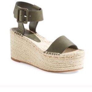Vince Espadrille Wedge Platform Sandals